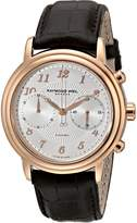 Raymond Weil Men's 4830-PC5-05658 Maestro Rose Gold-Tone Stainless Steel Automatic Watch with Leather Band