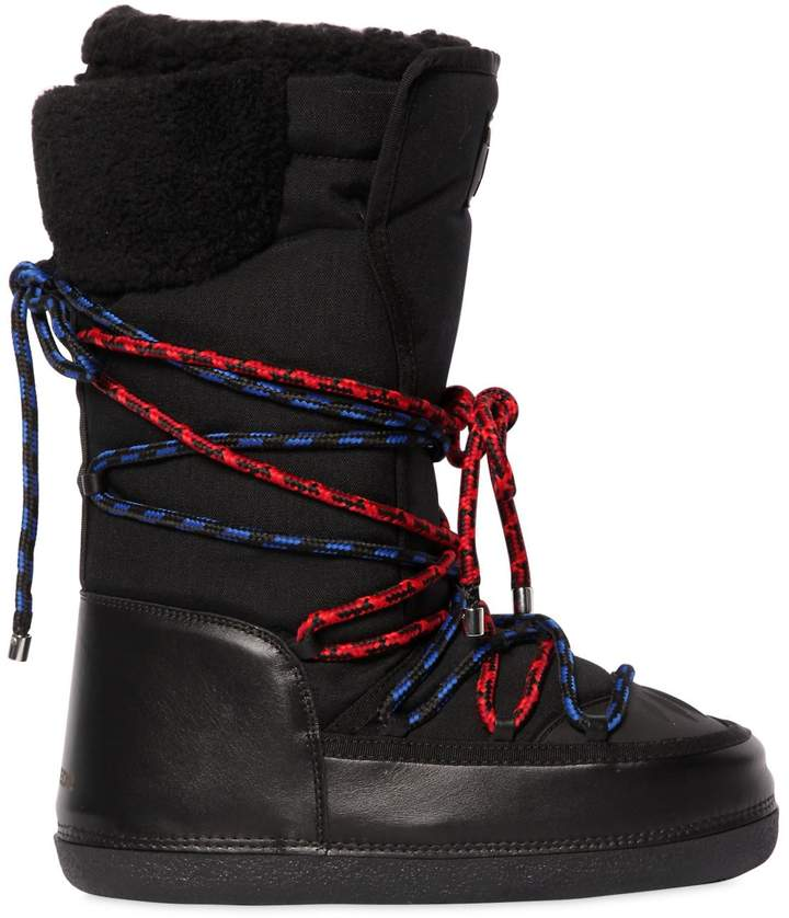DSQUARED2 Nylon Ski Snow Boots W/ Two Tone Laces