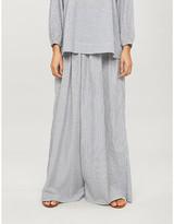 Anaak Annex striped wide-leg high-rise cotton trousers