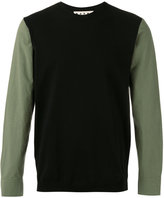 Marni poplin sleeve jumper - men - Cotton - 48