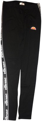 Ellesse Black Cotton Trousers for Women