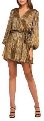 Bardot Bellissa Pleated Faux-Wrap Mini Dress