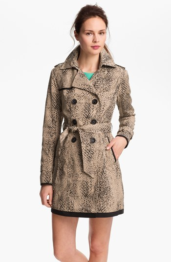 Ivanka Trump Animal Print Trench Coat