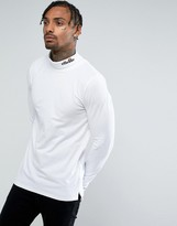 Ellesse Long Sleeve Roll Neck With Logo In White