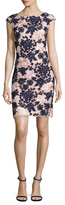 Donna Ricco Floral Applique Sheath Dress