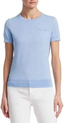 Saks Fifth Avenue COLLECTION Classic Short-Sleeve Sweater