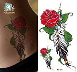 Body Art Temporary Removable Tattoo Stickers Flowers - RC-031 Sticker Tattoo - FashionDancing