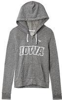 PINK University of Iowa High/Low Full-Zip Hoodie