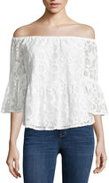 A.N.A a.n.a Off The Shoulder Embroidered Peplum Blouse