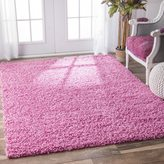 nuLoom Alexa My Soft and Plush Solid Pink Kids Shag Rug (5'3 x 7'6)