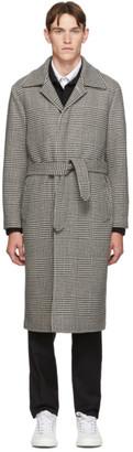 eidos Black and White Glen Plaid Top Coat