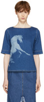 Stella McCartney Blue Denim Pegasus T-Shirt