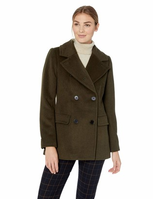 Lark & Ro Women's Double Breasted Peacoat