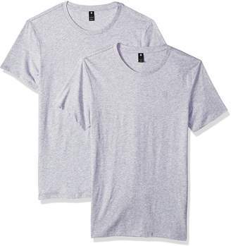G Star Men's Base Heather Round Neck Tee Short Sleeve 2-Pack