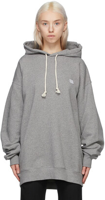 Acne Studios Grey Oversized Patch Hoodie