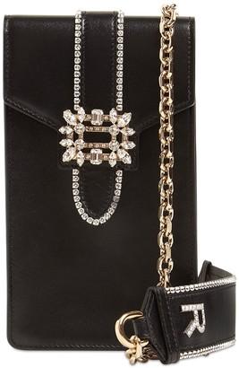 Roger Vivier Embellished Leather Shoulder Bag