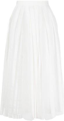 Fabiana Filippi Pleated Mesh Skirt