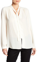 Karen Kane Tie Neck Button Up Blouse
