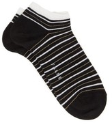 Falke Metallic Striped Cotton-blend Ankle Socks - Womens - Black Multi
