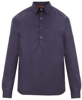 Barena Venezia - Pavan Cotton-poplin Polo Shirt - Mens - Navy