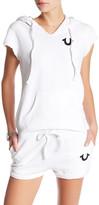 True Religion Short Sleeve Hooded Pullover