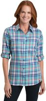 Dickies Women's Plaid Twill Roll-Tab Shirt