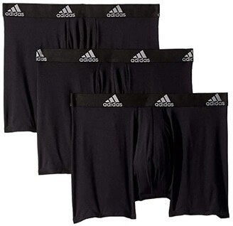 adidas Climalite(r) Boxer Brief 3-Pack (Onix/Black/Black/Onix Grey/Black) Men's Underwear