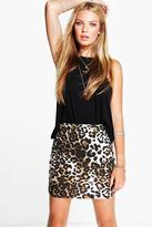 Boohoo Amarah Leopard Print Mini Skirt