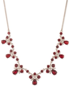 """Givenchy Crystal Frontal Necklace, 16"""" + 3"""" extender"""