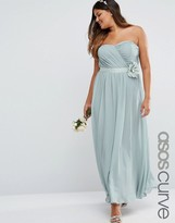 Asos WEDDING Chiffon Maxi Dress with Corsage