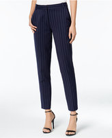 Armani Exchange Pinstripe Straight-Leg Trousers