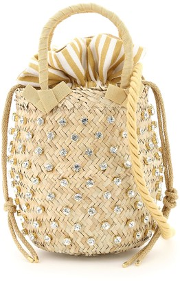 Le Nine Nina Small Basket Bag S2-00033 Crystal Stripe
