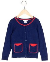 Little Marc Jacobs Girls' Rib Knit Long Sleeve Cardigan
