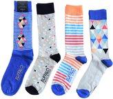 Buffalo David Bitton Men's Diamonds and Stripes Crew Socks