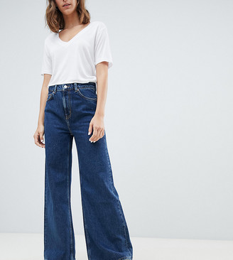 Weekday Ace organic cotton wide leg jeans in blue
