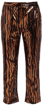 le superbe Sequin Cropped Chino Trousers