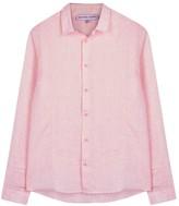 Orlebar Brown Morton Pink Linen Shirt