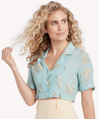 Capulet Women's Fara Bowling Shirt In Color: Poppy Print Size XS From Sole Society