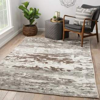 Thayer Williston Forge Hand Knotted Gray Area Rug Williston Forge Rug Size: Rectangle 2' x 3'