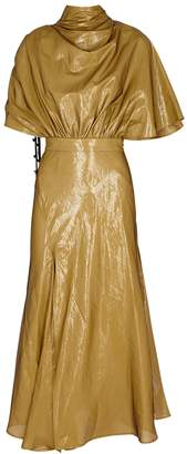 Ellery Soul Driver Caramel Coated Chiffon Dress