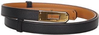 Hermes Black Leather Kelly Belt