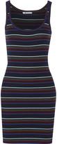 Alexander Wang Striped merino wool mini dress