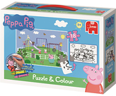 Peppa Pig Puzzle & Colouring Set