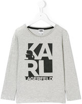 Karl Lagerfeld branded long-sleeved sweatshirt - kids - Cotton - 2 yrs