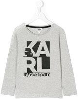 Karl Lagerfeld branded long-sleeved sweatshirt