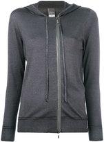 Lorena Antoniazzi hooded zip cardigan - women - Silk/Nylon/Cashmere/Metallic Fibre - 40