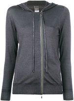 Lorena Antoniazzi hooded zip cardigan - women - Silk/Nylon/Cashmere/Metallic Fibre - 42