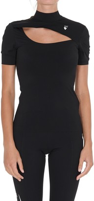 Off-White Cut-Out Detailed Fitted Top