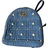 Gucci Marmont Blue Denim - Jeans Backpacks