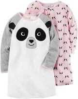 Carter's Toddler Girl 2-pk. Panda Knee Length Nightgowns